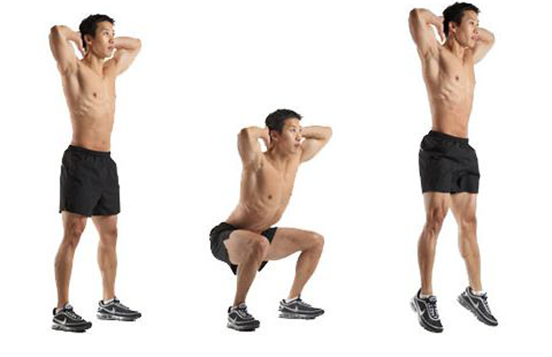 Crossfit Prisoner Squat Jump
