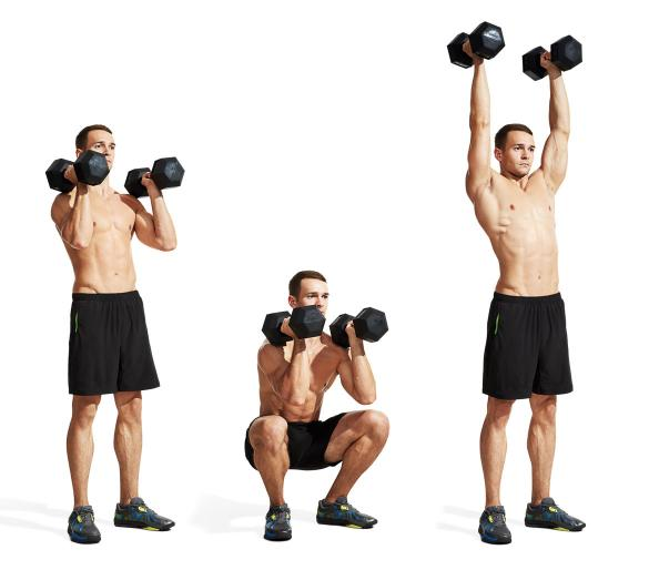 Perfect Dumbbell Squat Press Form