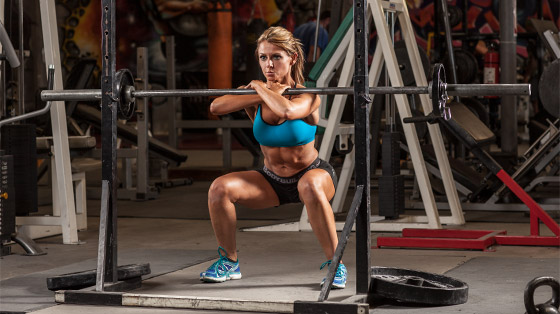 Cross Arm Grip Front Squat Perfect Form